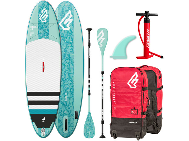 "Fanatic Diamond Air Package 09'8"" Inflatable Sup with Paddles and Pump none"